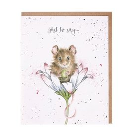 Wrendale Designs 'Mouse Wishes Just For You' Card