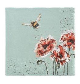 Wrendale Designs 'Flight of the Bumblebee' Luncheon Napkins