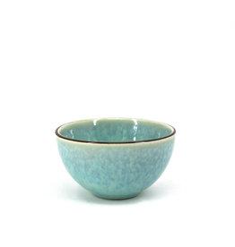 "Reactive Glazed Pinch Bowl 3.5""/9cm -Green"