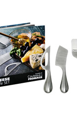 Danesco Cheese Knife Set 3pc  Stainless Steel