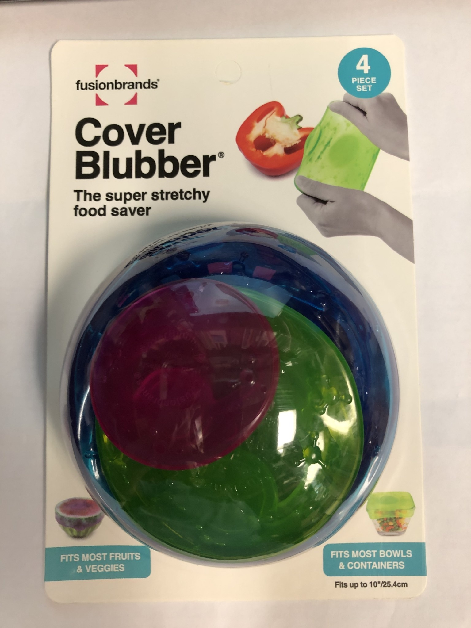Fusionbrands Cover Blubber Food Saver S/4- Assorted