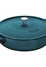 Staub 4qt Chistera Braiser - La Mer 3.8L 28cm Base
