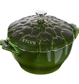 Staub 3qt/3L Cast Iron  Artichoke Cocotte - Basil Green