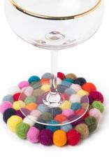 Felt Ball Coaster- Multi Colour