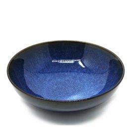"""Reactive Glazed Serving Bowl 8""""- Navy Blue"""