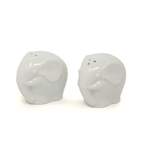 Elephant Salt & Pepper Shakers - White