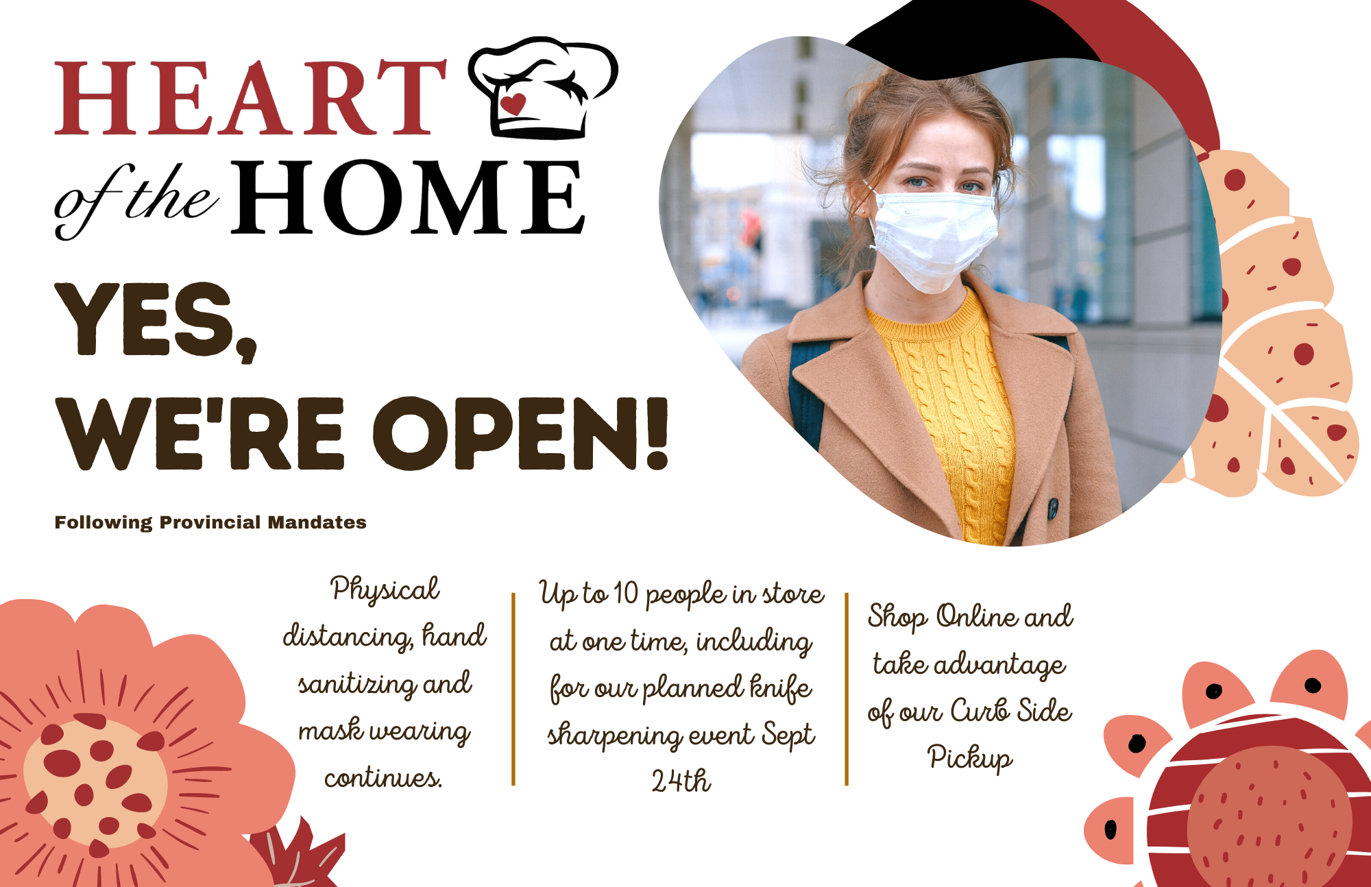 Updated Heart of the Home YEG Store Covid Protocols