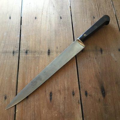 """Sabatier 9.5"""" Slicer Knife Hand Forged Carbon Steel 1950's-60's"""