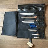 EvenOdd Waxed Canvas/ Bike Tube Knife Roll w/ Strap Black