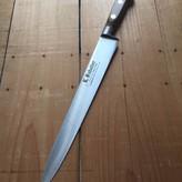 """K Sabatier 10"""" Slicer 'Authentique' Carbon Steel Olive Handle"""