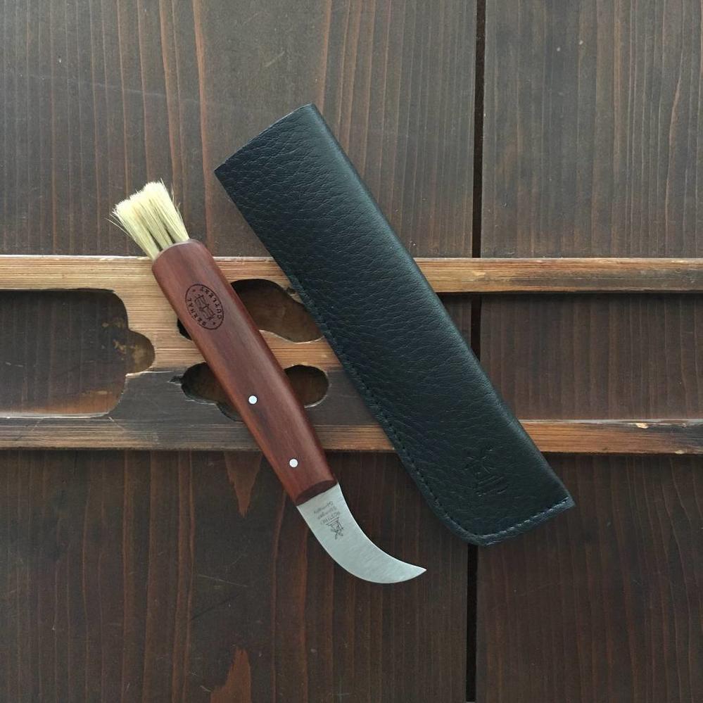 Windmuehlenmesser Mushroom Knife Plum Handle W Leather