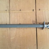 "Dexter Russell 12"" Honing Steel Medium Cut Wood Handle"