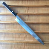 Yoshikazu Ikeda Honyaki 270mm Yanagi Oil Quench Shirogami #3 Ebony with Bone Spacer / Valentines Bigfaka Sale 15% Off