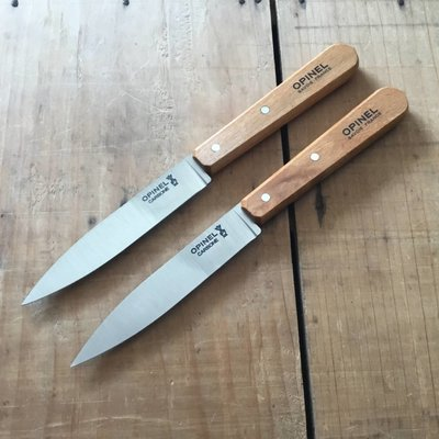 Opinel Set Of 2 Paring Knives Carbon