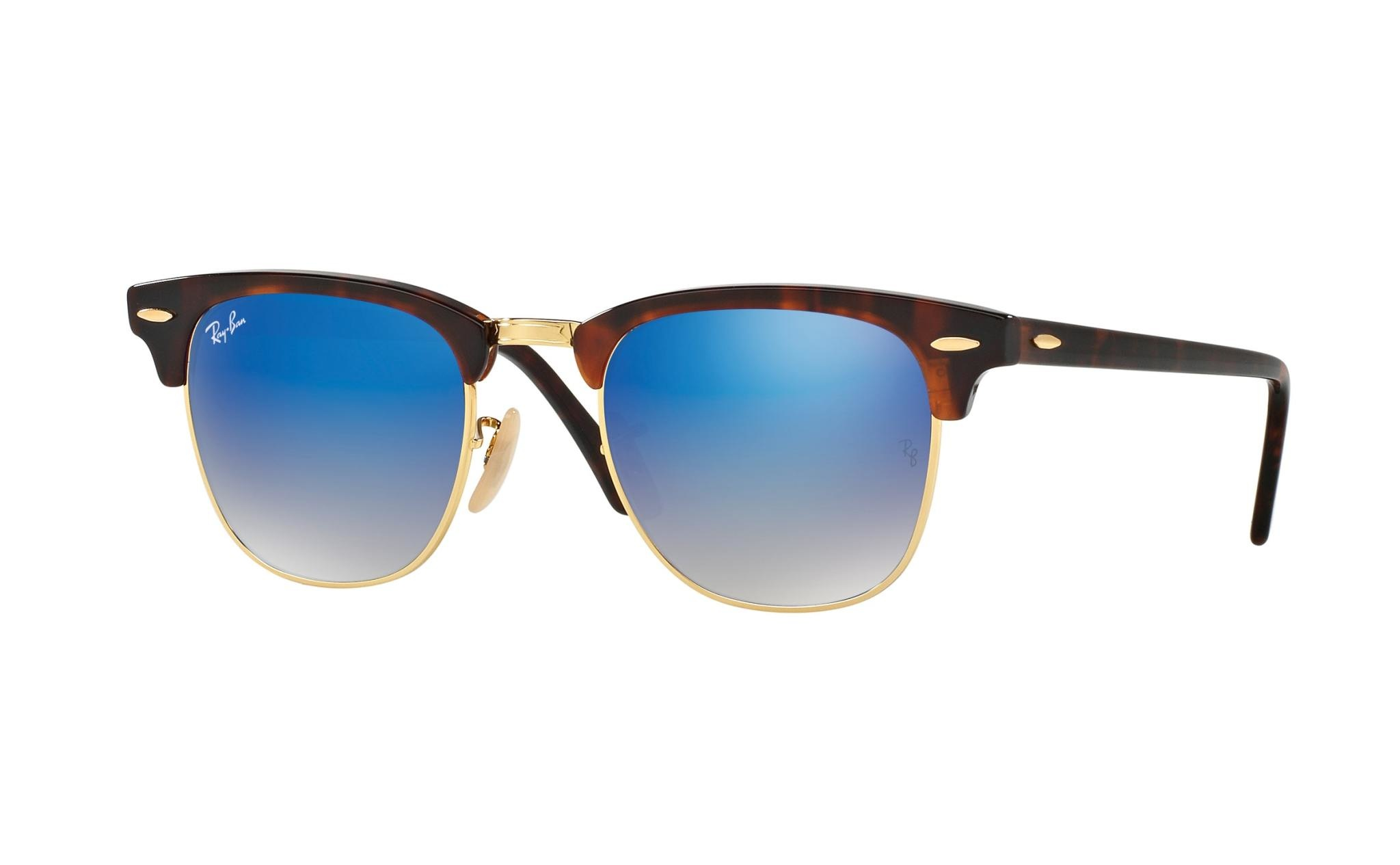 49 Ray Ban Clubmaster Flash Lenses Gradient-1