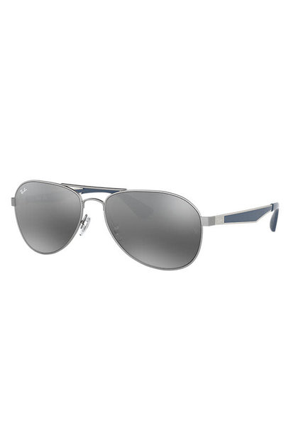 02 Ray Ban Matte Gunmetal/Gray Gradient Mirror