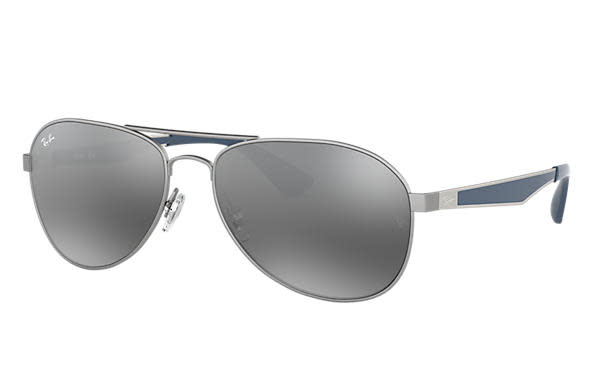 02 Ray Ban Matte Gunmetal/Gray Gradient Mirror-1