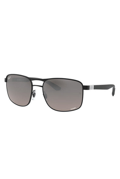 23 Ray Ban Matte Black/Gray Mirror