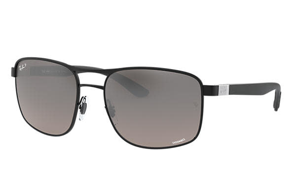 23 Ray Ban Matte Black/Gray Mirror-1