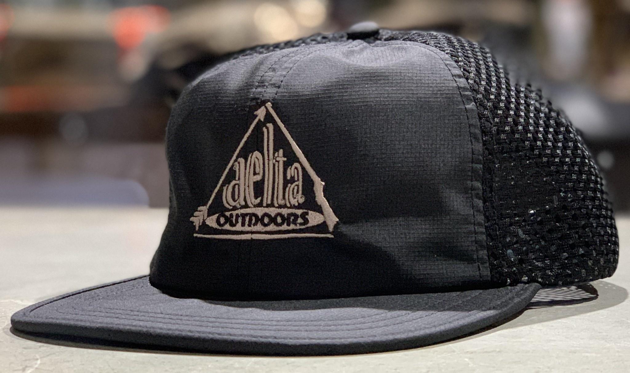 Delta Outdoors Crushable Black Cap-1