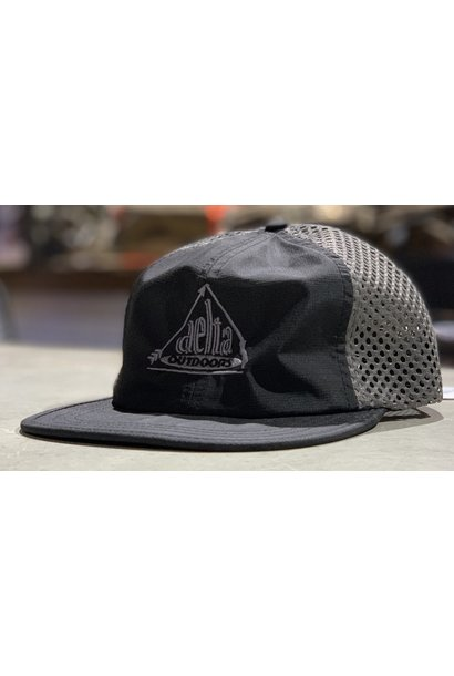 Delta Outdoors Crushable Black/Gray Cap