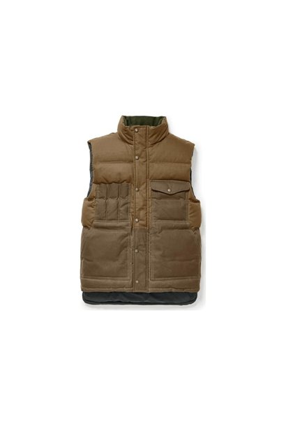Cruiser Down Vest Dark Tan