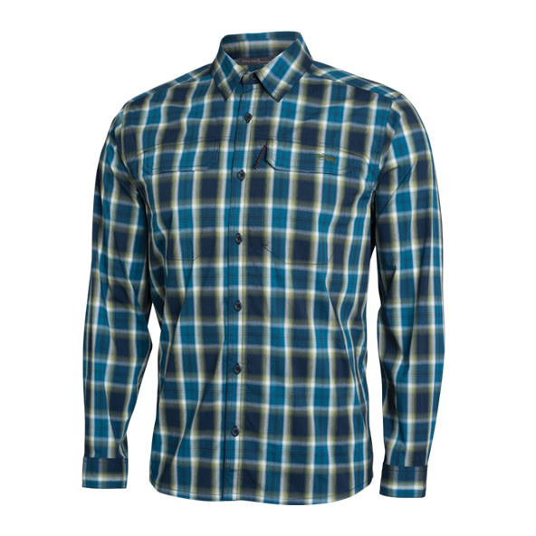 Globetrotter Long Sleeve Pond Plaid-1