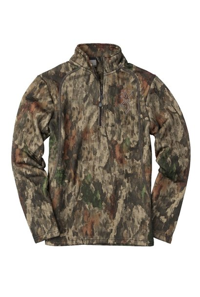 Browning Shirt Youth 1/4 Zip Medium