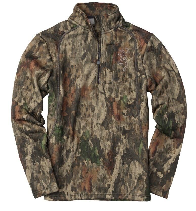 Browning Shirt Youth 1/4 Zip Medium-1