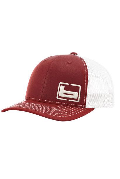 Banded Trucker Cap Red/White Mesh