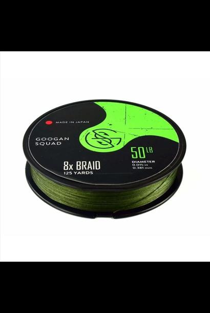 Braided Line 8x 15lb 125yd Green