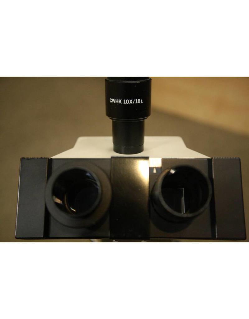 Olympus CH2 (CHT) Olympus CH-2 Binocular Microscope – 4x, 10x, 40x CHT  model Stereo Microscope (Missing eyepiece)