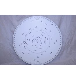 Star Finder 2102-D by Weems & Plath. Planisphere Main Template w/ 9 Overlays (Pre-owned)