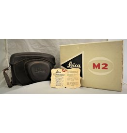 Leica Leitz M2 35mm Rangefinder Film Camera Body with Leather Case and Box