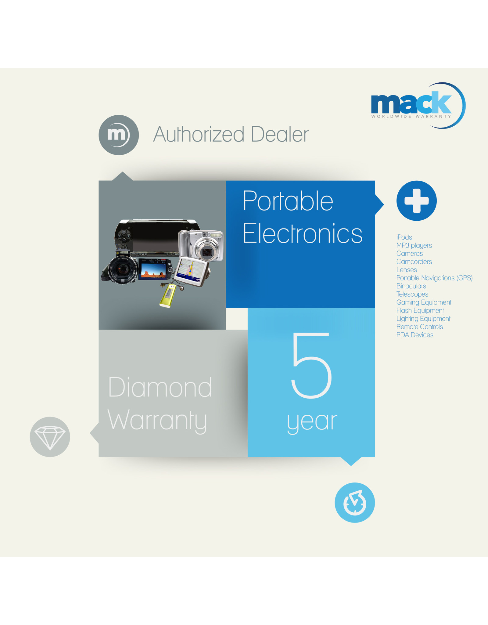 5YR Diamond Warranty for Products Costing less than $250