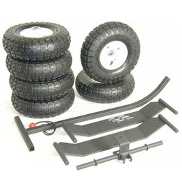 "JMI 10"" Pneumatic Large Wheels (Upgrade at Time of Purchase Only*) For Universal-Style Wheeley Bars"