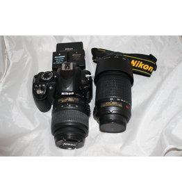 Nikon Nikon D3100 14.2MP Digital SLR Camera & 2 Nikkor DX VR Lens Outfit (Pre-owned)