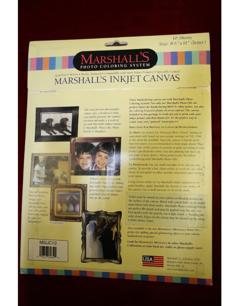 """Marshall's Inkjet Canvas 8.5 x 11"""" Paper (10 sheets)"""