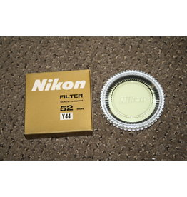 NIKON 52MM ORIGINAL Y44 LIGHT YELLOW FILTER IN CASE & GOLDEN BOX - MINT -