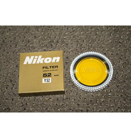 Nikon 52MM Original Y52 YELLOW FILTER IN CASE & GOLDEN COLOR BOX -MINT-