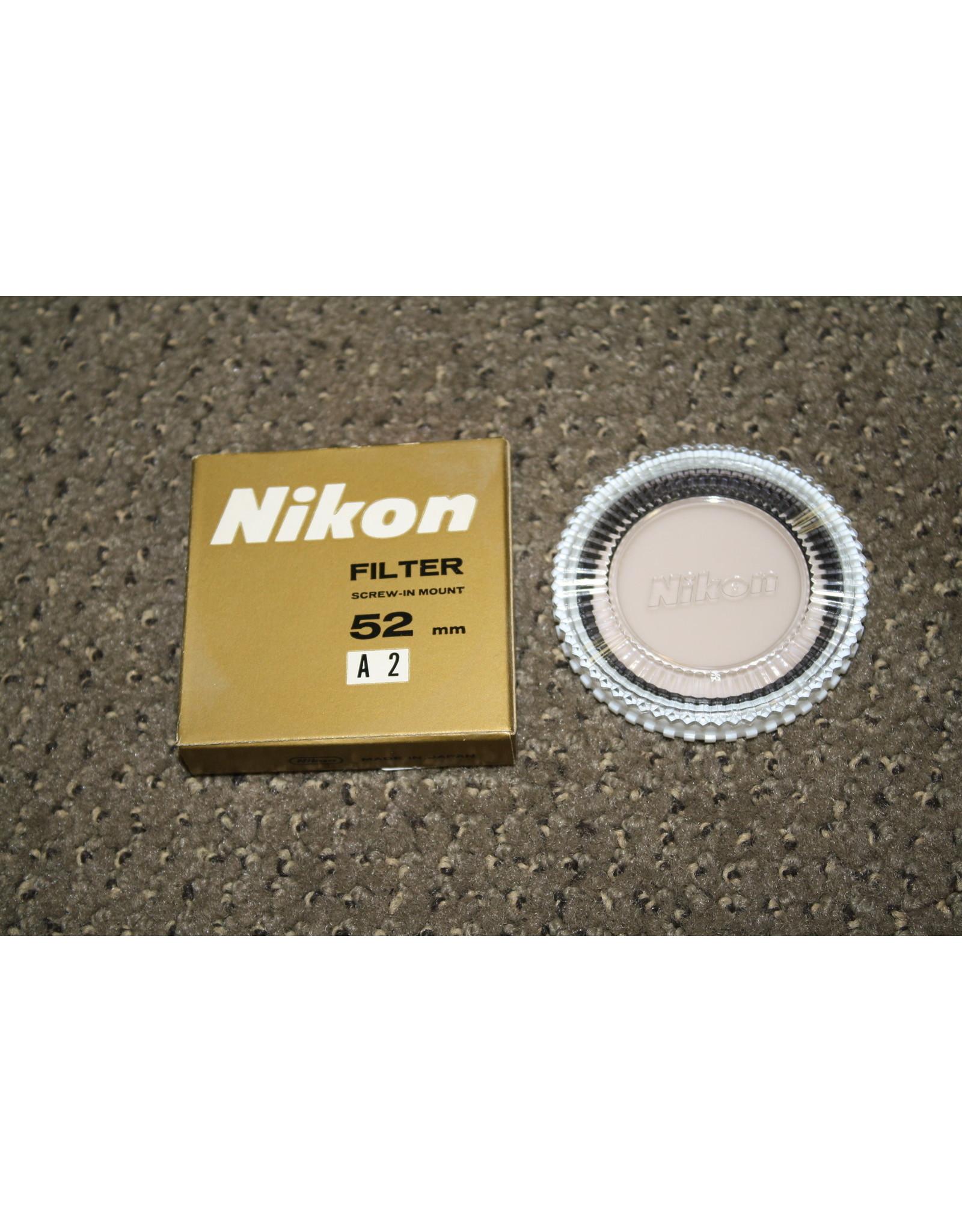 Nikon A2 52mm Filter w/ Case & Box
