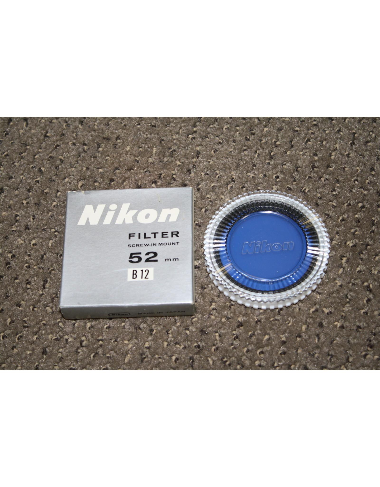 Nikon B12 52mm Filter w/ Case & Box