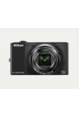 "Nikon COOLPIX S8000 14.2MP Black Digital Camera - 3"" LCD battery charger Tested"