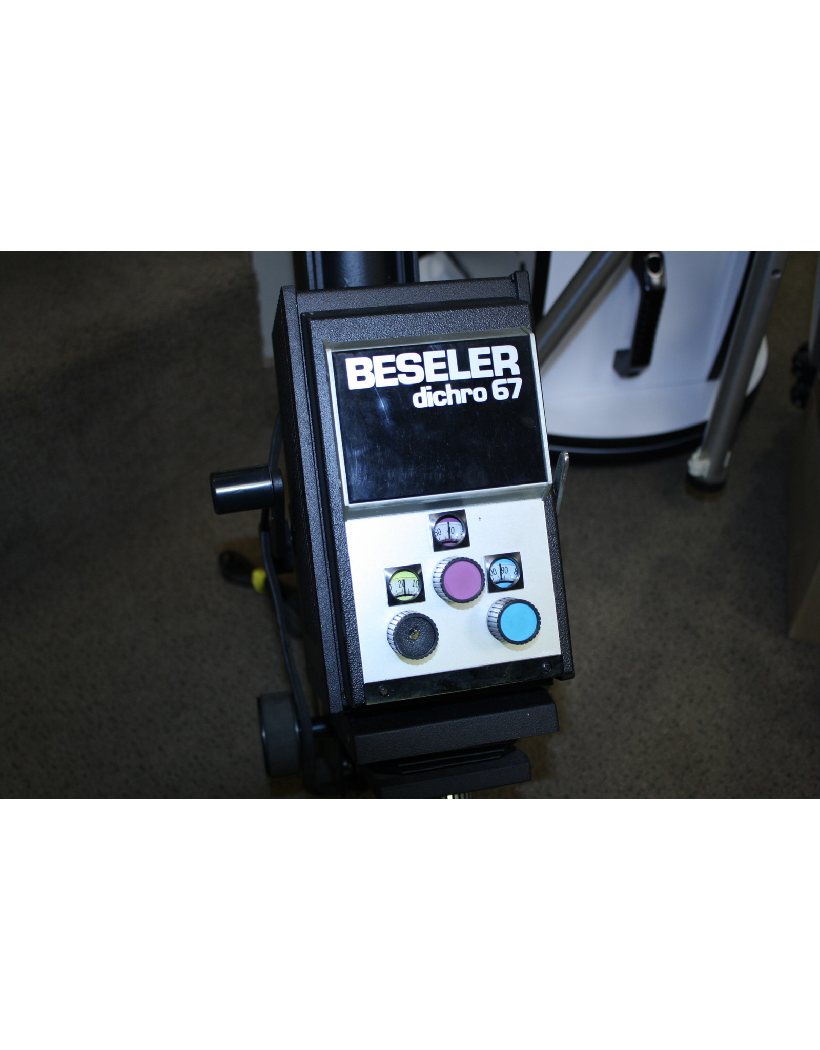 Beseler Dichro 67 with 6x7 Diffusion Insert, lensboard, & Beslar 50mm lens and Rail System