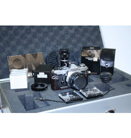 Olympus OM-1n film camera with 50mm f1.8 Zuiko Astrophotography Kit- Ex+