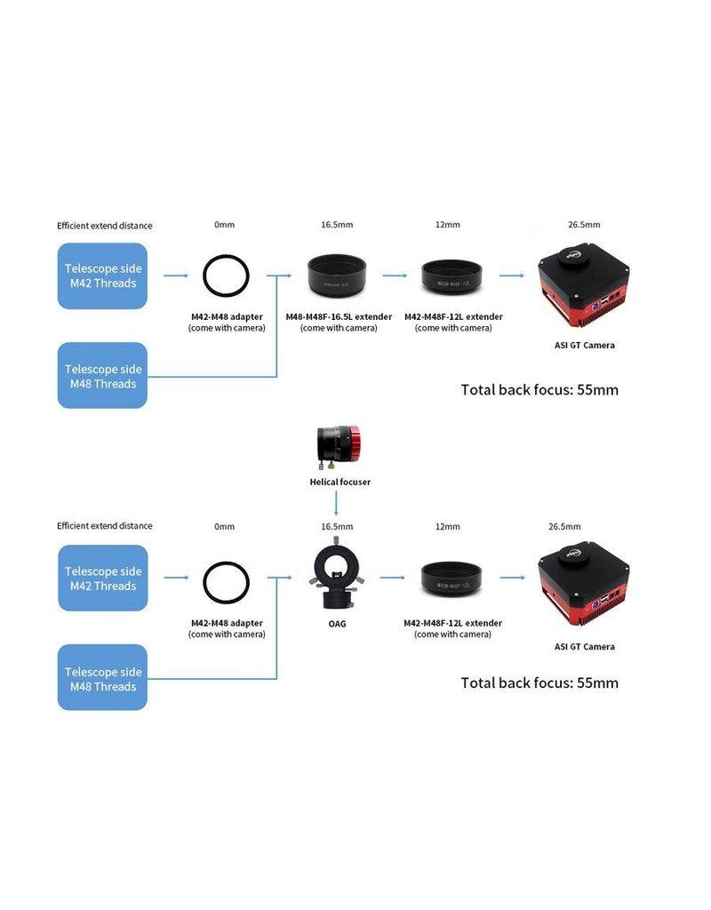 ZWO ZWO ASI183GT Monochrome Camera w/ 5-Position Filter Wheel - ASI183GT