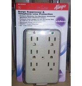 Zenith ALG243 Allegro 6 Plug AC Outlet Multiplier Surge Surpressor