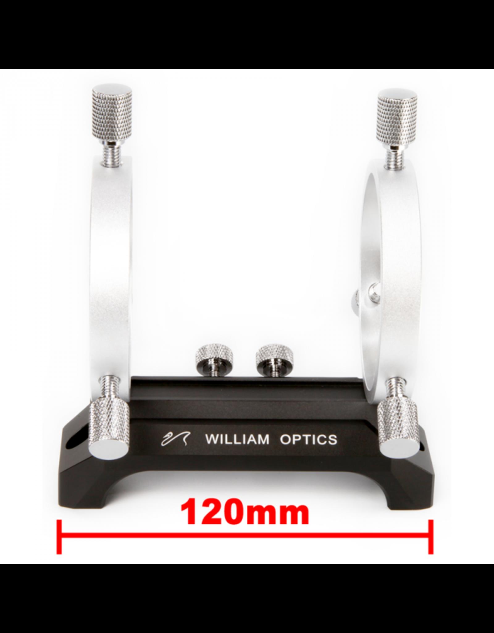 William Optics William Optics 120mm Saddle Handle & 50mm Silver Guiding Rings w/ Adjustment Screws - M-HC120BL-GR50SL