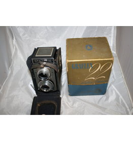 Graflex Vintage Graflex 22 TLR Camera Model 200 Graftar 85mm f:3.5 Twin Lens Reflex 120