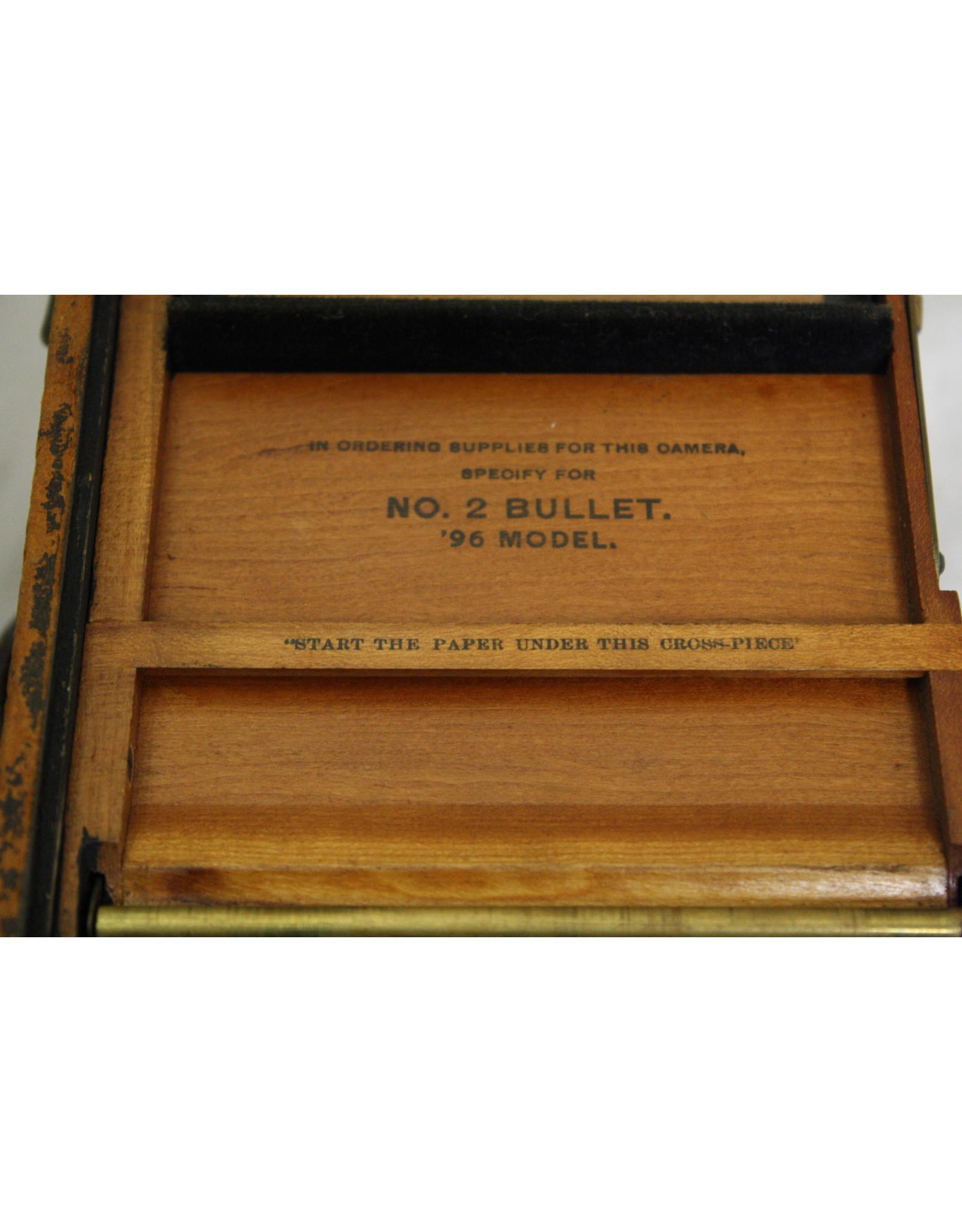 BOX CAMERA KODAK NO. 2 BULLET 96 MODEL ANTIQUE CUSTOM 122 YRS. OLD, BOCOTE WOOD